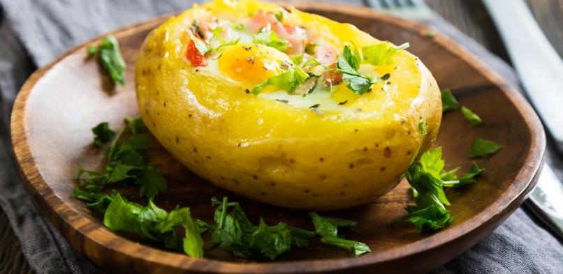 Ziemniaki nadziewane jajkiem